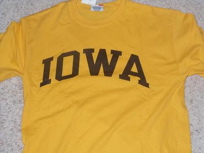Gold Iowa Hawkeyes T-Shirt