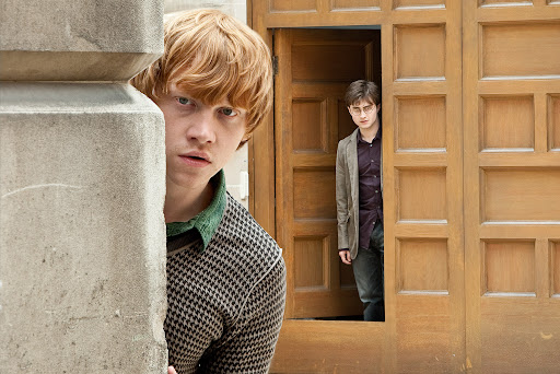 Rupert Grint is Ron Weasley and Daniel Radcliffe is Harry Potter - Harry Potter and the Deathly Hallows