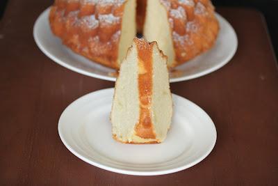 photo of a slice of Sour Cream Pound Cake