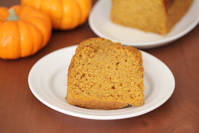 photo of two slices of pumpkin bread on a plate