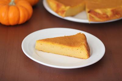 photo of a slice of Pumpkin Mascarpone Cake