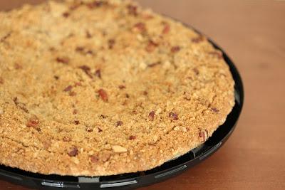 close-up photo of a Pumpkin Cheesecake Pie