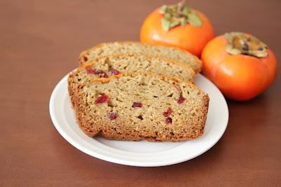 Cranberry persimmon bread