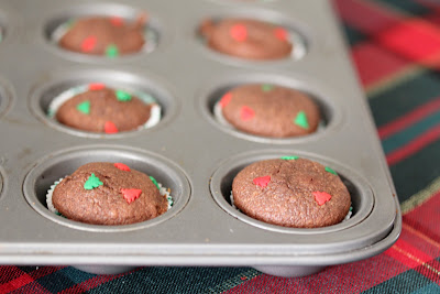 close-up photo of the cakes in a muffin tin