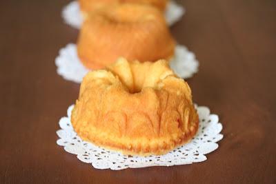 close-up photo of a mini rum cake