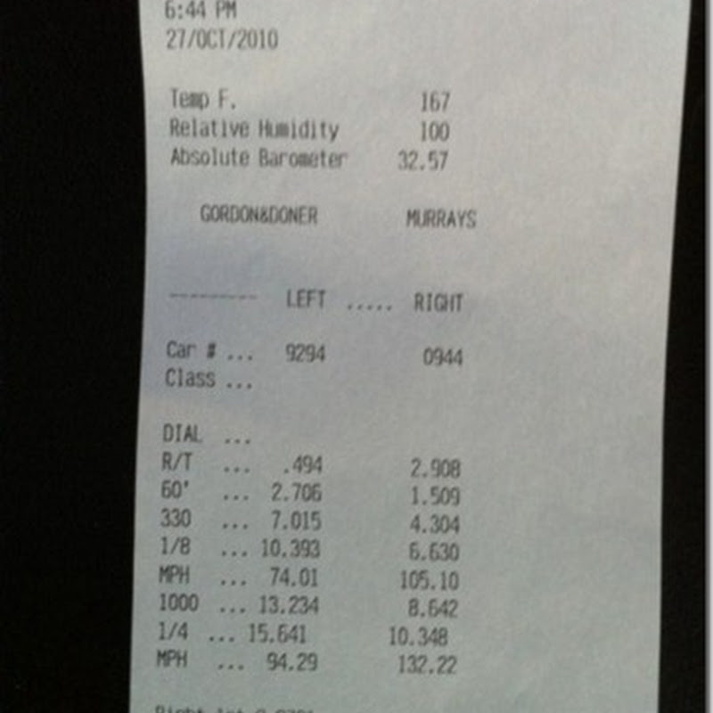 10.34 @ 132.2 mph on Stock Turbos