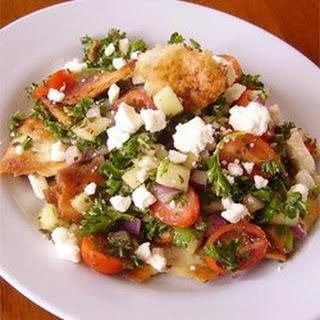 Arabic Fattoush Salad.