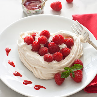 Meringue Hearts with Fresh Raspberries and Whipped Cream