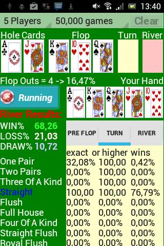 Poker Star Odds Calculator
