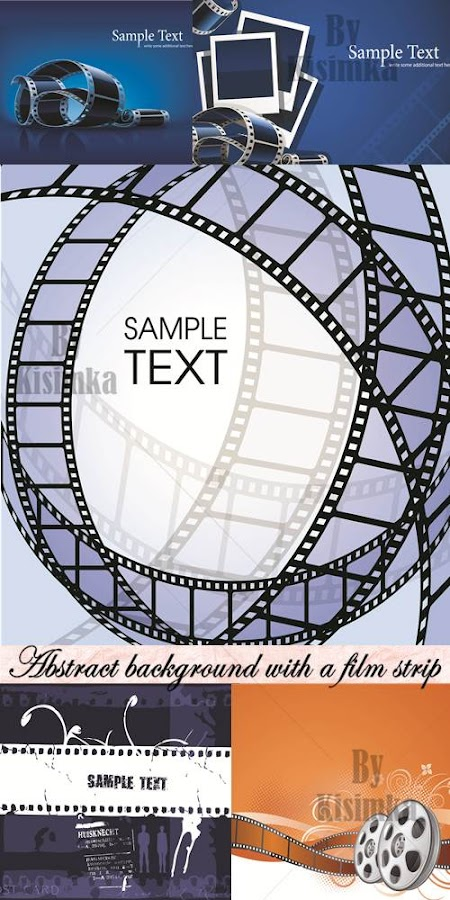 Stock vector: Abstract background with a film strip