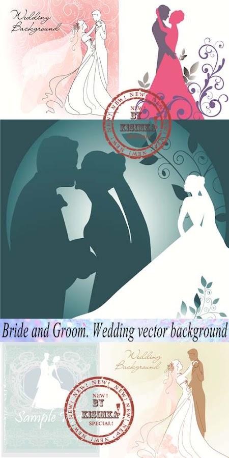 Stock: Bride and Groom. Wedding background