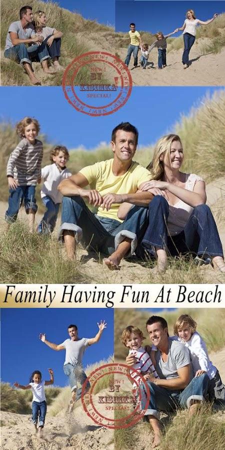 Stock Photo: Family Having Fun At Beach