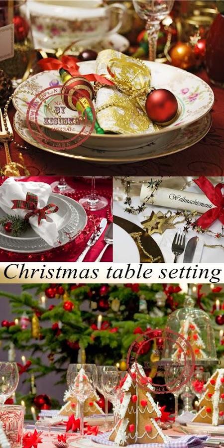 Stock Photo: Christmas table setting