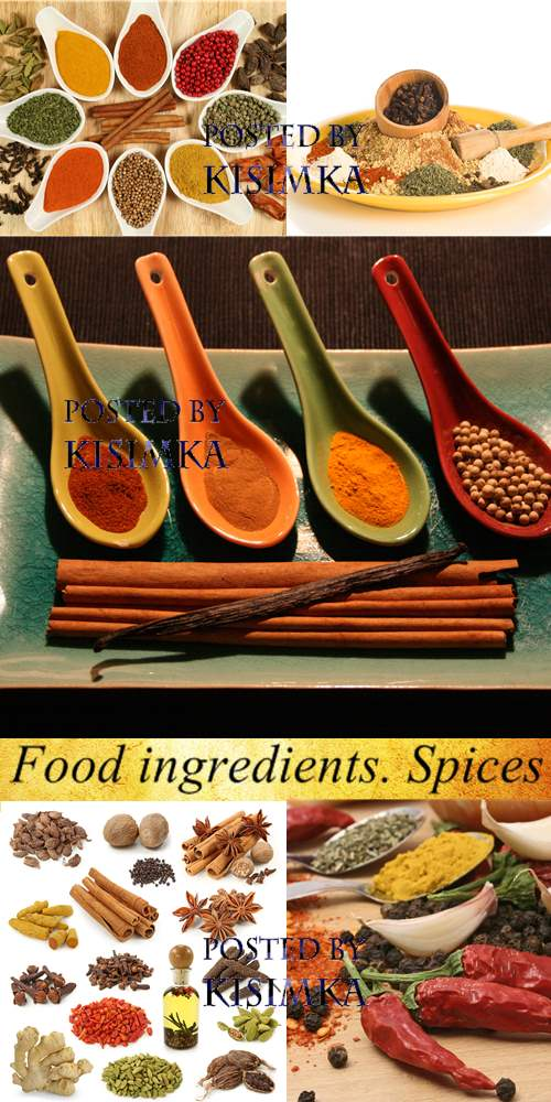 Stock Photo: Food ingredients. Spices