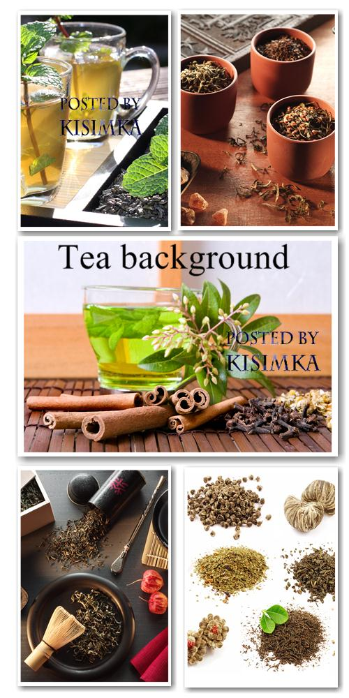 Stock Photo: Tea background