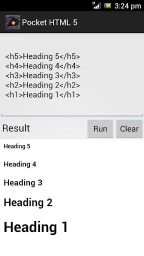 Pocket HTML