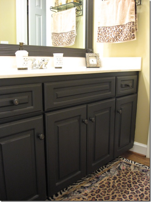 how to paint bathroom cabinets black painting laminate cabinets southern hospitality 17177