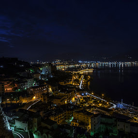 Gaeta by Giuseppe Ciaramaglia - City,  Street & Park  Night