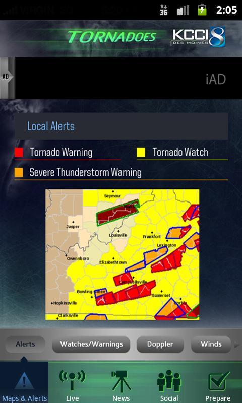 Tornadoes KCCI 8 Des Moines- screenshot