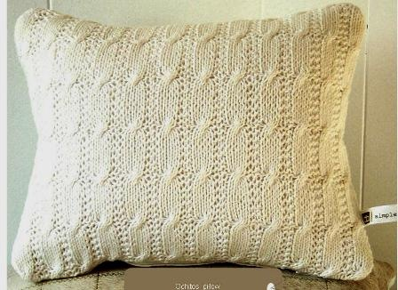 knit pillow simplemente blanco Beach House Living