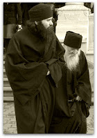 Father Adrian and his disciple, Father Makarios