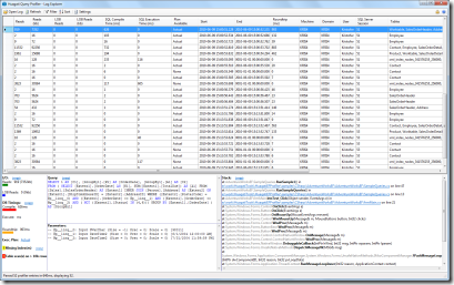 The Huagati Profiler Log Explorer main window