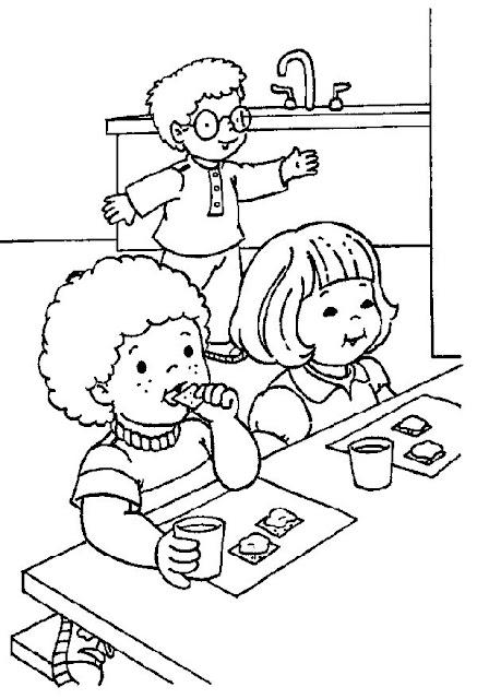 Colorear Actividades De La Escuela