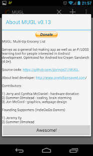 MUGL - Multi-Up Grocery List - screenshot thumbnail