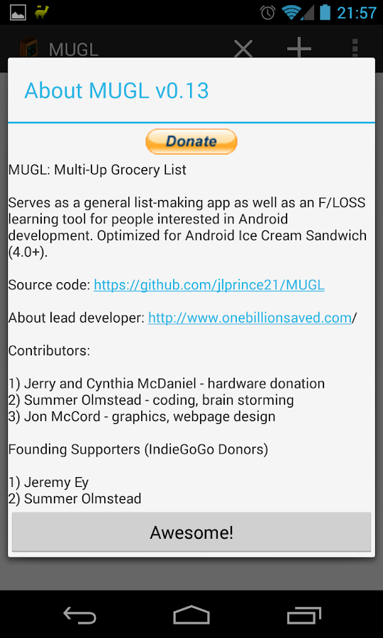 MUGL - Multi-Up Grocery List - screenshot