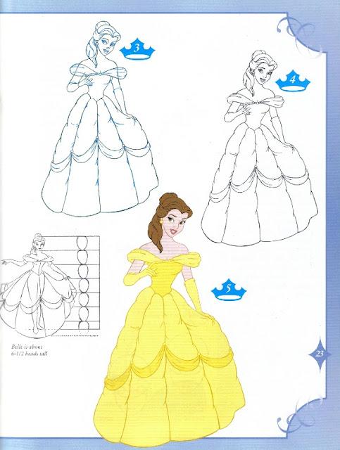 Dibujar Princesas Disney Bella