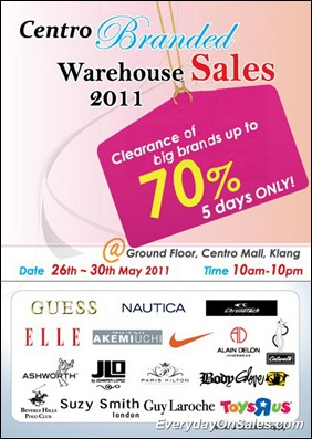 301d2447aa38a5 Selected Promotion To You !  Centro Mall Branded Warehouse Sales 2011