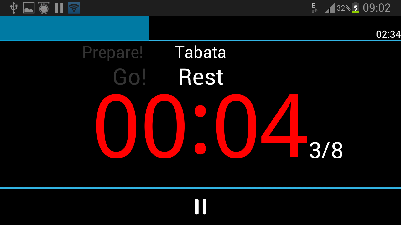 A HIIT Interval Timer - screenshot