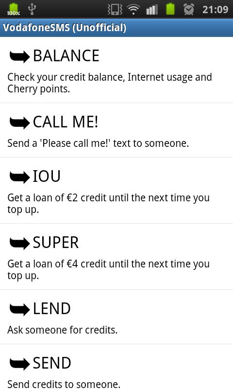 Vodafone SMS (Unofficial) - screenshot