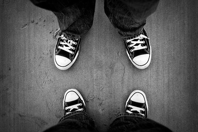 Rockin' our converse at the beach