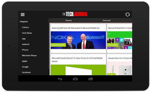 The Tech Journal - Tech News- screenshot thumbnail
