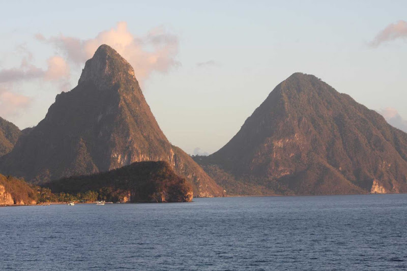 The Pitons of St. Lucia.