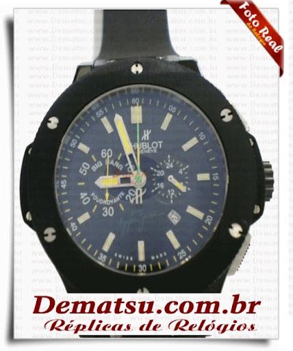 44d78e29991 Dematsu Réplicas de Relógios  Réplica Hublot Big Bang Ayrton Senna ...