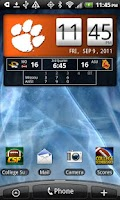 Screenshot of Clemson Tigers Live Clock