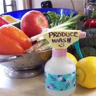 Vinegar-Based Fruit and Veggie Wash.