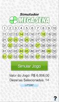 Screenshot of Simulador Mega-Sena