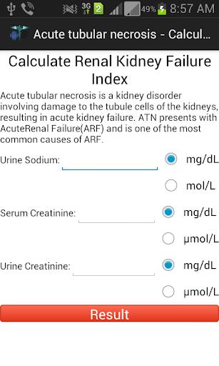 Renal Kidney FailureIndex Cal