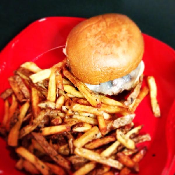Gf burger, bun and fries. Soooo good!