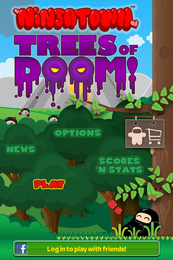 Ninjatown: Trees of Doom!- screenshot