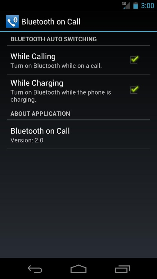 Bluetooth on Call - screenshot