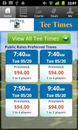 Prestwick Golf Tee Times