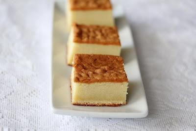 slices Honey Castella Cake