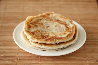 photo of a plate of scallion pancakes