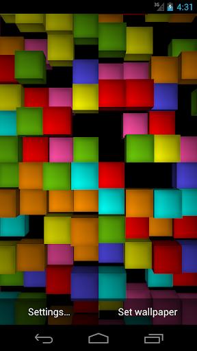 立方3D:動態壁紙免費
