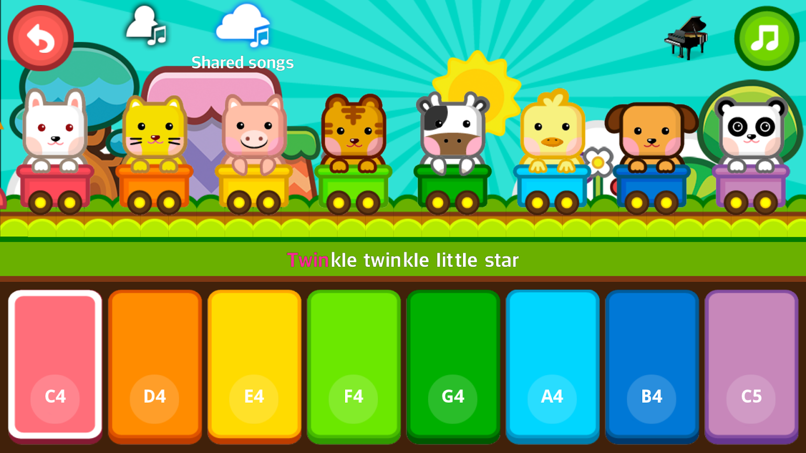fun piano for kids screenshot - Fun Pictures For Kids