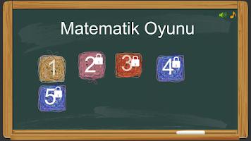 Screenshot of Dört işlem Matematik Oyunu
